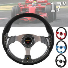 Anneau direction plat JDM jaune volant universel style sport OMP 350mm ME