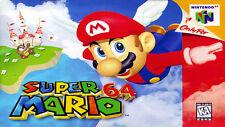 "Nintendo 64 N64 SUPER MARIO 64  Box Cover  8.5""x11""  Game Wall Poster Decor"