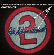 Red Schoendienst Patch GRAY -St Louis Cardinals Baseball Jersey #2 Memorial GREY