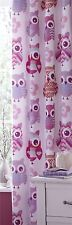 Catherine Lansfield Rideau Motif chouettes Rose Multicolore Curtains