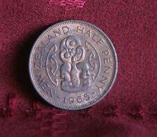 1965 New Zealand 1/2 Half Penny World Coin KM23.2 Nice Luster Hei Tiki Elizabeth