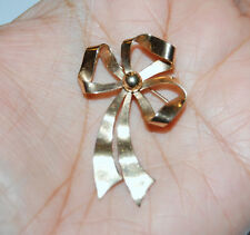 Hat Large Bow Tie 3D Broach 3.7gr 10K Solid Yellow Gold Pin Brooch Scraf Dress