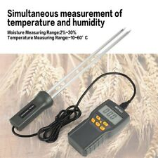 Portable Lcd Digital Grain Moisture Meter Thermometer Humidity Hygrometer Tester