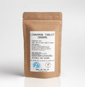 Cinnamon Tablets 2000mg Cinnamon bark extract by Fitness Health UK Made