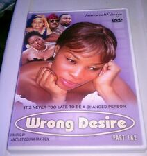 Wrong Desire Part 1 & 2(DVD, 2007) Very Rare Nigerian Film