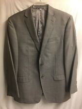 Calvin Klein Men's Grey 100% Wool Suit Jacket Dry Clean Sz 40R 2 Buttons CR-20ss