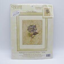 Counted Cross Stitch Kit Hydrangea on Cracked Linen 51346 Candamar USA NIP