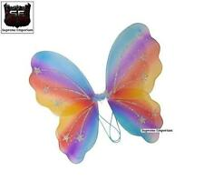 Supreme Rainbow Glitter Butterfly Fairy Wings Fancy Dress 43 x 36cm Kids Adults