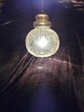Vecchio Doria sospesa Lampada 60er 70er anni SPACE AGE LAMP rottura vetro 70s 60s Lampadario