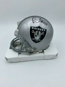 CLELIN FERRELL Signed Las Vegas Raiders mini Helmet #96 COA/Hologram
