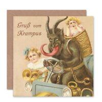 Krampus Alpine Anti Santa Funny Blank Greeting Card With Envelope