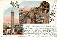 POSTCARD EGYPT  PORT - SAID  QUEEN'S VICTORIA DIAMOND JUBILEE  - Circa 1901