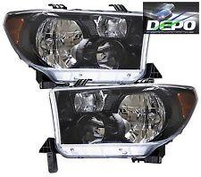 07-11 Toyota Tundra Pickup Black Head Lights OE Style DEPO
