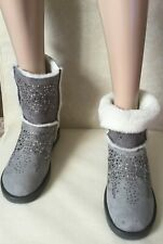 Ankle boots on real fur IOANNIS Woman, gray color, size 40  Tronchetti camoscio