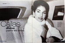 MARIA CALLAS => COUPURE DE PRESSE 5 PAGES 2002 / French CLIPPING