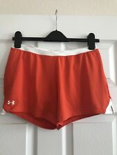 Under Armour Ladies Shorts NWOT! Size M Orange w/full White Liner- Lots Of Pics!