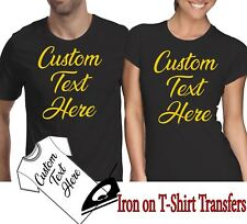 Custom Iron On T Shirt Transfer Any Text Your Name Personalised Hen Stag Party