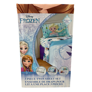 Disney Frozen Twin Sheet Set / 3 Piece Set / Microfiber / Kid's Sheet Set