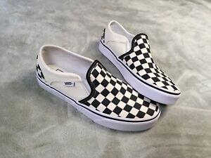 Size 6.5 Womens Vans Cream White Checkerboard 721356