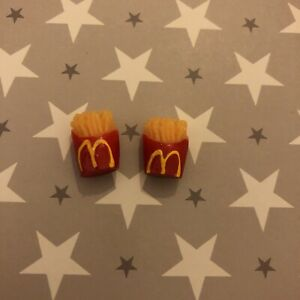 Minature Dolls House Accessorises Fast Food McDonald's Fries x 2 Gift Set New