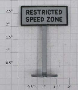 Plasticville PS-1-RSZG Railroad Sign, Restricted Speed Zone (Gray)