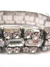 Stretch Bracelet. Beautiful Vintage Rhinestone
