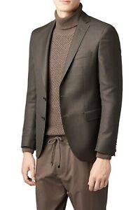 Hugo Boss Men's 'Roan2' Green Extra Slim Fit Wool Textured Sport Coat Blazer 38R