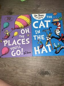 Dr Seuss Oh The Places You'll Go And The Cat In The Hat Paperback Books