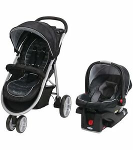 Graco Aire3 Click Connect Travel System - Gotham - New! Free Shipping!
