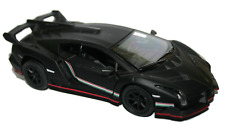 Lamborghini Veneno Stealth Matt Black 1:36 Scale Model Supersports Car New