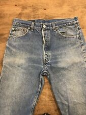 Vintage Levis 501xx 1980's Button Fly Blue Jeans C13 Men's Size 35 x 27 USA
