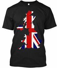 British Flag Union Jack Map Great Britai Hanes Tagless Tee T-Shirt