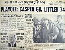 Best 1970 headline display newspaper BILLY CASPER wins MASTERS GOLF CHAMPIONSHIP