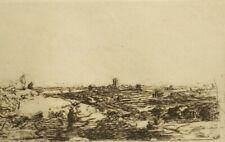 Antique landscape etching after Rembrandt Van Rijn 1600's (B206)