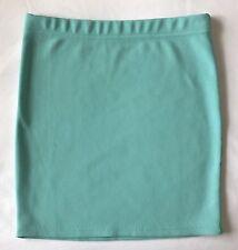 Forever 21 Women's Aqua Teal Blue Stretch BodyCon Pencil Skirt M 26-30 Elastic