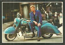 RARE / CARTE POSTALE - JOHNNY HALLYDAY MOTO HARLEY DAVIDSON / POSTCARD POSTKARTE