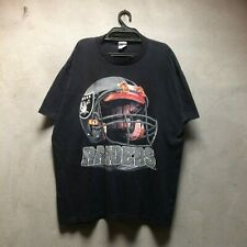 Vintage 1996 Nfl Big Logo Raiders True Fan Spotwear Made in Honduras Nfl Usa
