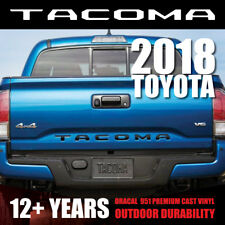NEW 2018 [Gloss Black] TOYOTA TACOMA Vinyl Decal Tailgate Letters Insert Sticker