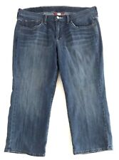 Lucky Brand Womens Size 12 Cropped Pants Medium Wash Low Rise Denim Jeans
