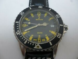 VINTAGE BREITLING  AUTOMATIC  DIVER WATCH 200 METERS   ETA 2783 , SWISS MADE