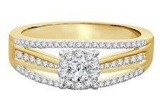 10K Oro Giallo .56 Carati Donna Vera Diamante Nuziale Matrimonio Fidanzamento