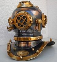 Vintage Antique Steel Brass Mini Scuba Diving Divers Helmet Christmas ornament a
