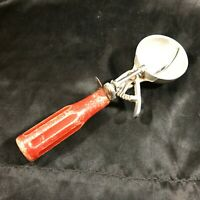 vintage PROGRESSIS Red Handle Ice Cream Scoop Made in Italy