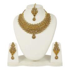 5054  INDIAN BOLLYWOOD GOLD TONE WEDDING FASHION BRIDAL JEWELRY NECKLACE SET