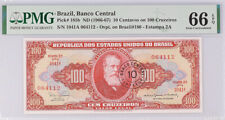 Brazil 10 Centavos on 100 Cruzeiros ND 1966-1967 P 185 b Gem UNC PMG 66 EPQ