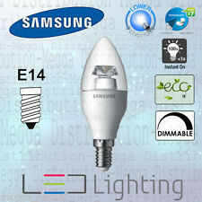 Samsung DIMMABLE 5.2w=25w E14 B35 *CANDLE* LED Light Bulb/Lamp WARM WHITE 2700k