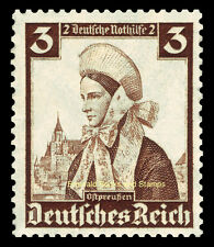 EBS Germany 1935 Nothilfe - Regional Costumes - 3+2 Pfennig - Michel 588 MH*