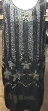 RARE Original 20's Beaded & Rhinestone Hand Decorated Flapper Dress!!