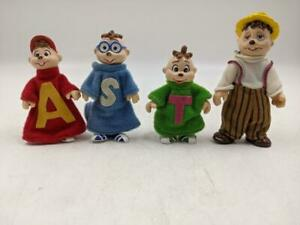 Vintage 1984 BAGO Alvin and the Chipmunks Action Figures Alvin Simon Theodore +1