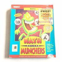 MECC Math Munchers Deluxe Big Box Sealed NOS CD ROM Macintosh Windows 1995